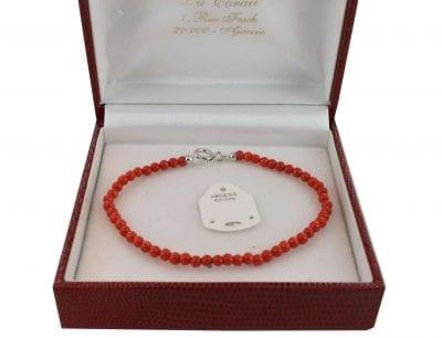 Bracelet en Corail véritable de méditerranée et argent 725 BR-CO-AR-1127