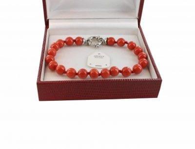 Bracelet en Corail véritable de méditerranée et argent 725 BR-CO-AR-1146