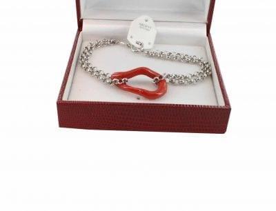 Bracelet en Corail véritable de méditerranée et argent 725 BR-CO-AR-1151