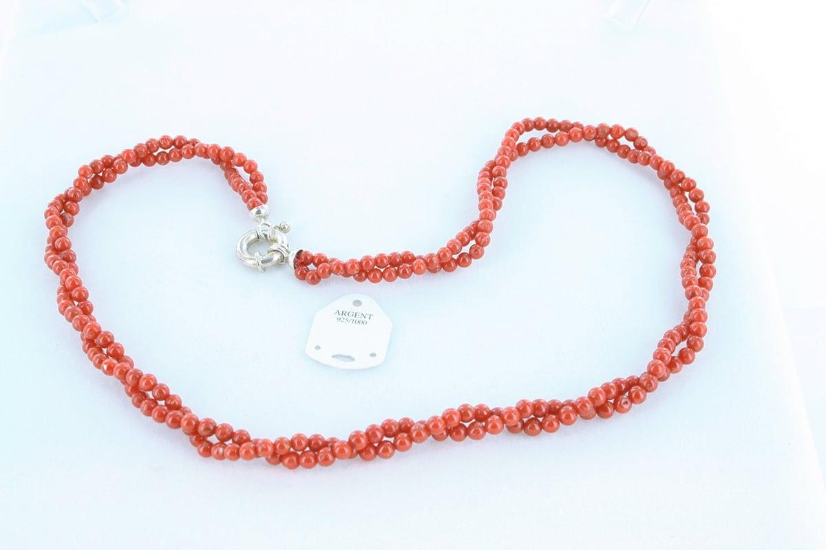 Collier en corail rouge véritable de Méditerranée 032