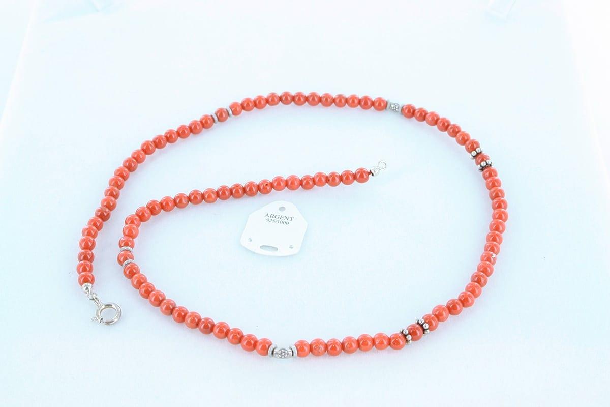 Collier en corail rouge véritable de Méditerranée 042