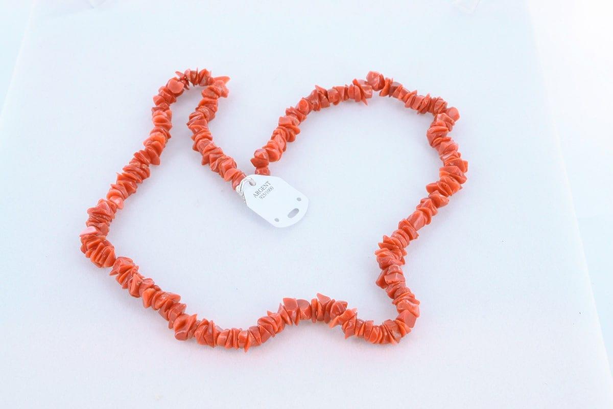 Collier en corail rouge véritable de Méditerranée 046