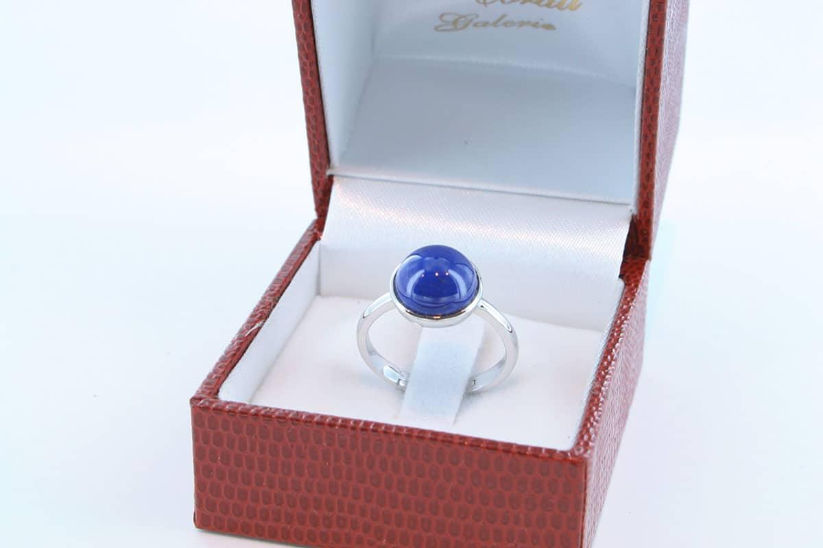 Bague en Lapis Lazuli et argent 925 par 1000 BA-LA-LA-AR-001