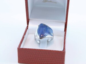 Bague en Lapis Lazuli et argent 925 par 1000 BA-LA-LA-AR-009