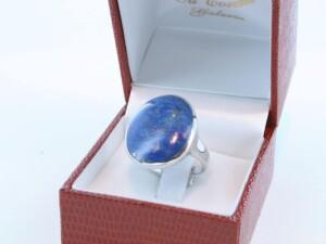 Bague en Lapis Lazuli et argent 925 par 1000 BA-LA-LA-AR-010
