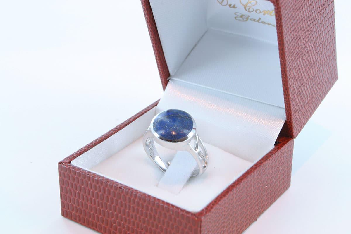 Bague en Lapis Lazuli et argent 925 par 1000 BA-LA-LA-AR-015