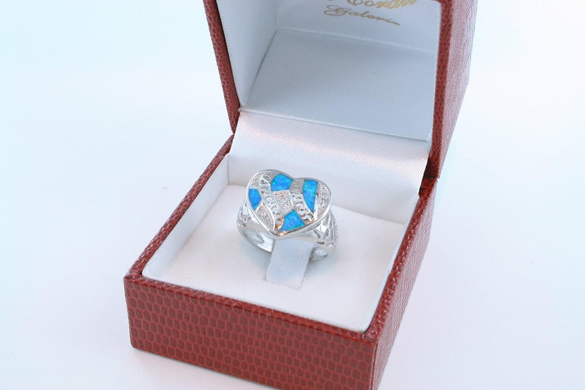 bague opale bleu et argent 925 par 1000 001