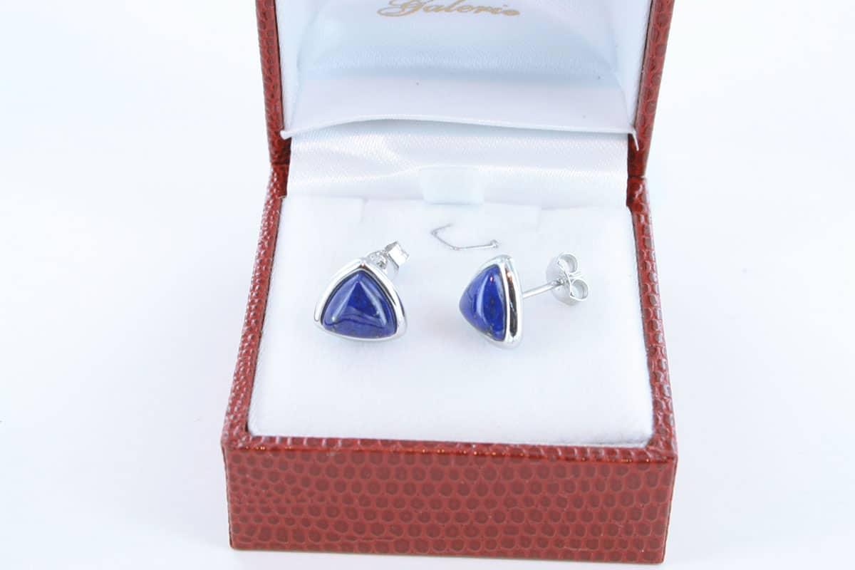 boucles d oreilles en lapis lazuli et argent 925 par 1000 BO-LA-LA-AR-001