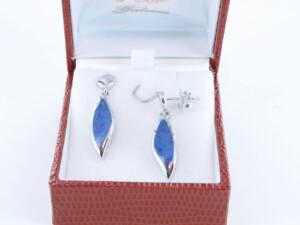 boucles d oreilles en lapis lazuli et argent 925 par 1000 BO-LA-LA-AR-005