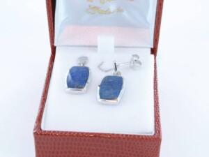 boucles d oreilles en lapis lazuli et argent 925 par 1000 BO-LA-LA-AR-007
