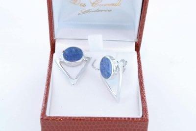 boucles d oreilles en lapis lazuli et argent 925 par 1000 BO-LA-LA-AR-008
