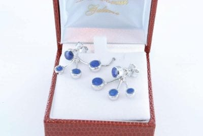 boucles d oreilles en lapis lazuli et argent 925 par 1000 BO-LA-LA-AR-009