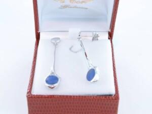 boucles d oreilles en lapis lazuli et argent 925 par 1000 BO-LA-LA-AR-010