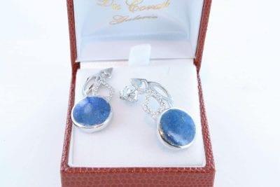 boucles d oreilles en lapis lazuli et argent 925 par 1000 BO-LA-LA-AR-012