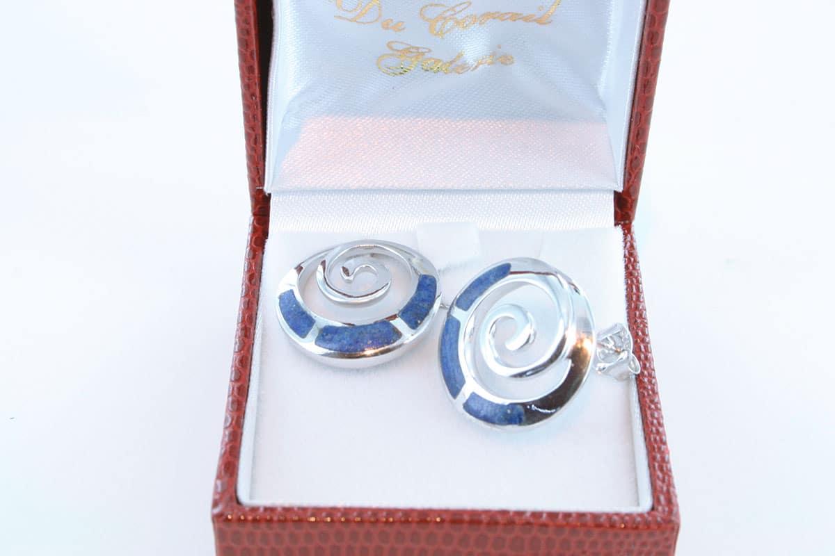 boucles d oreilles en lapis lazuli et argent 925 par 1000 BO-LA-LA-AR-013
