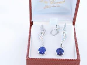 boucles d oreilles en lapis lazuli et argent 925 par 1000 BO-LA-LA-AR-016