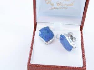 boucles d oreilles en lapis lazuli et argent 925 par 1000 BO-LA-LA-AR-020