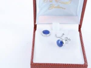 boucles d oreilles en lapis lazuli et argent 925 par 1000 BO-LA-LA-AR-021