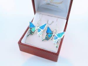 boucles d oreilles en opale bleu et argent 925 par 1000 BO-OP-BL-019