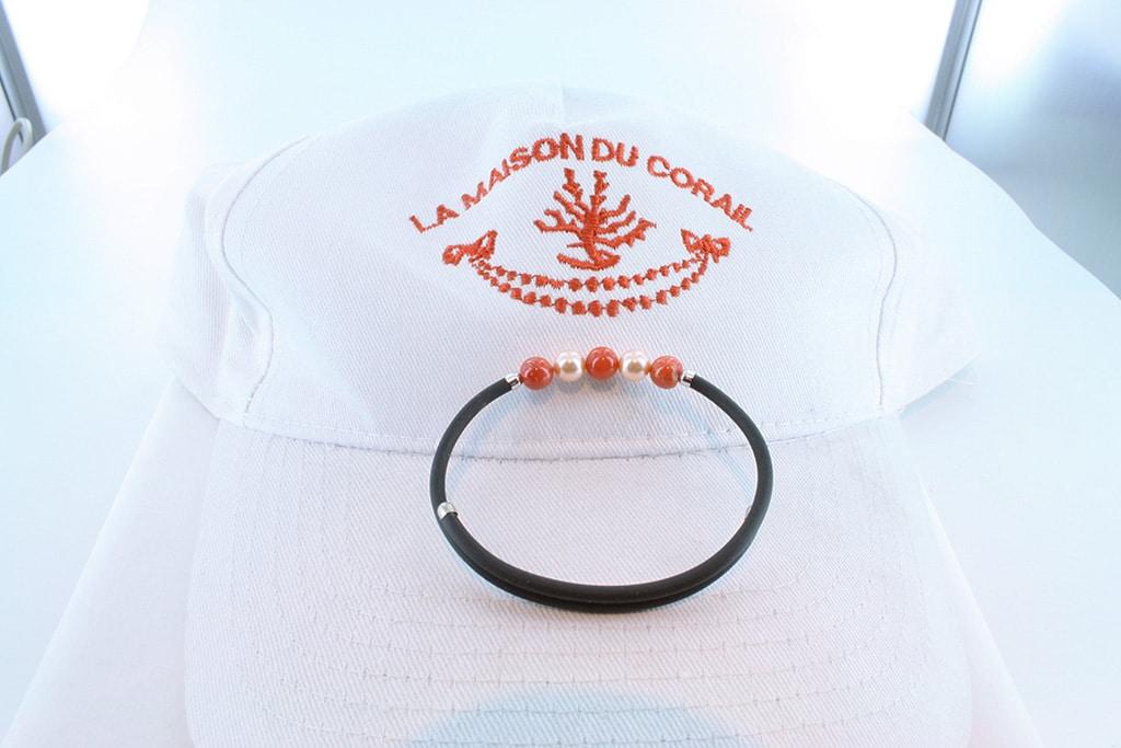 Bracelet corail rouge et argent BR CO AR 1184