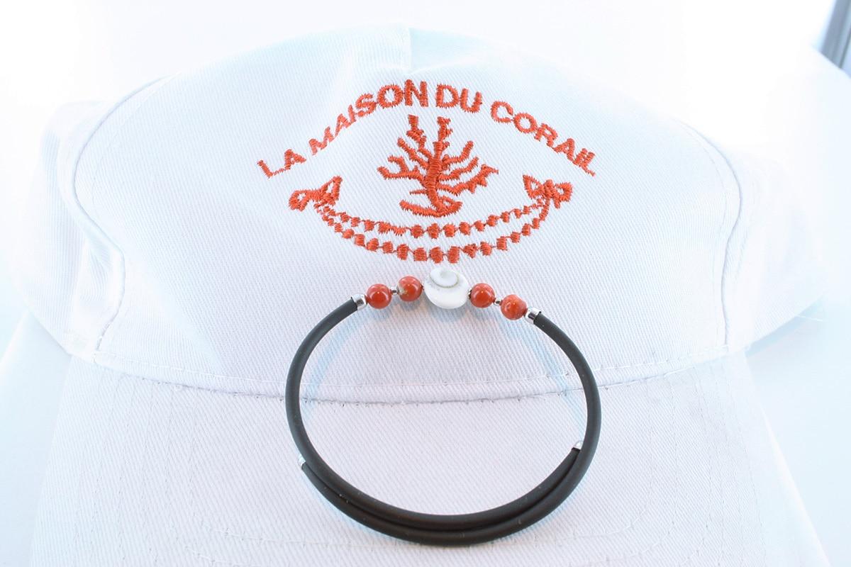 Bracelet corail rouge et argent BR CO AR 1201