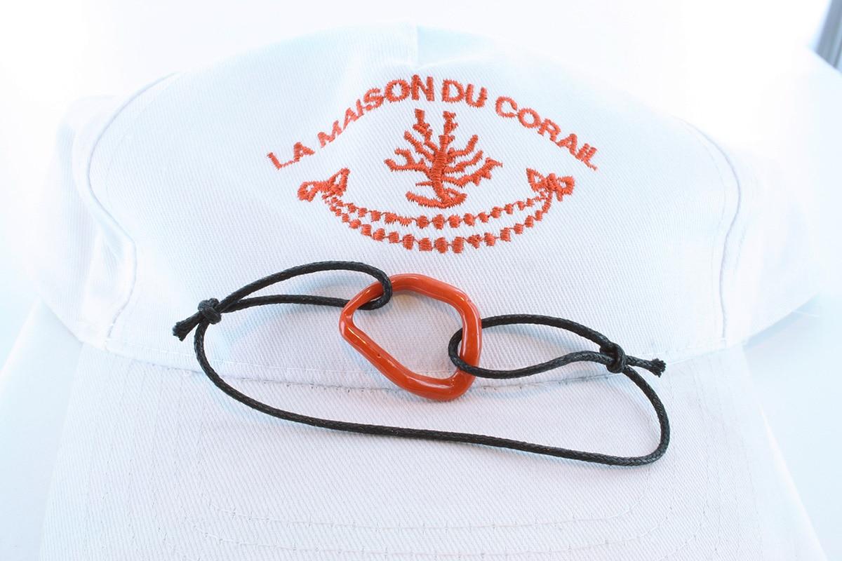 Bracelet corail rouge et argent BR CO AR 1207
