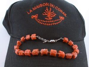 Bracelet corail rouge et argent BR CO AR 1212