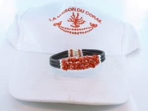 Bracelet corail rouge et argent BR CO AR 1217