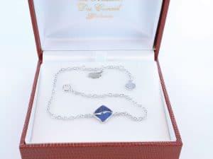 Bracelet en lapis lazuli et argent 925 par 1000 BR-LA-LA-AR-001