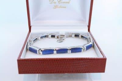 Bracelet en lapis lazuli et argent 925 par 1000 BR-LA-LA-AR-005