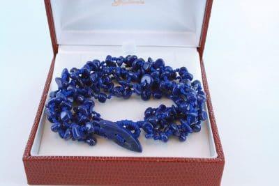 Bracelet en lapis lazuli et argent 925 par 1000 BR-LA-LA-AR-008
