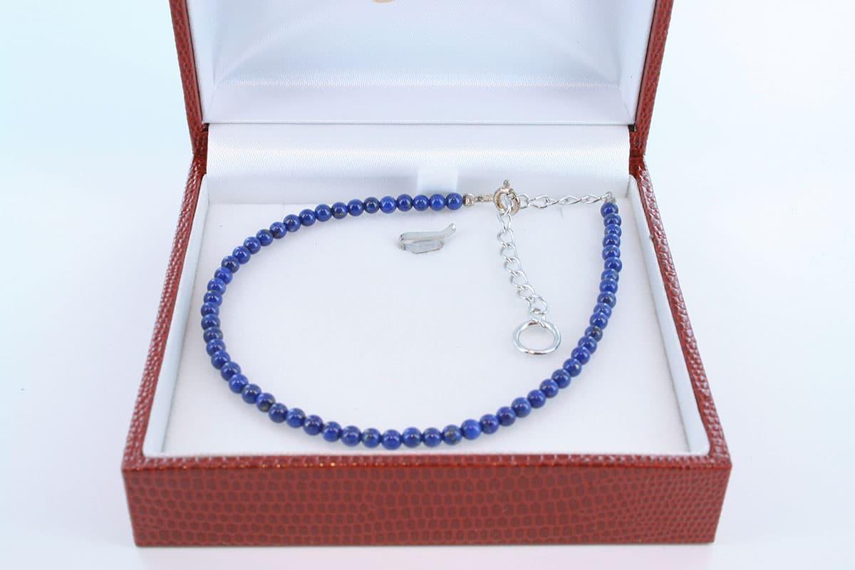 Bracelet en lapis lazuli et argent 925 par 1000 BR-LA-LA-AR-009