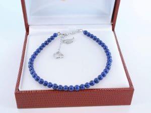 Bracelet en lapis lazuli et argent 925 par 1000 BR-LA-LA-AR-010