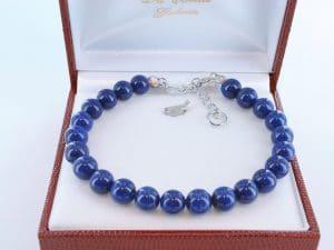 Bracelet en lapis lazuli et argent 925 par 1000 BR-LA-LA-AR-012