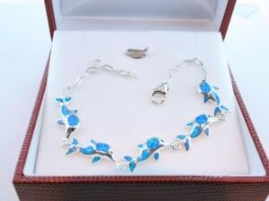 bracelet en opale et argent 925 par 1000 BR-OP-BL-004