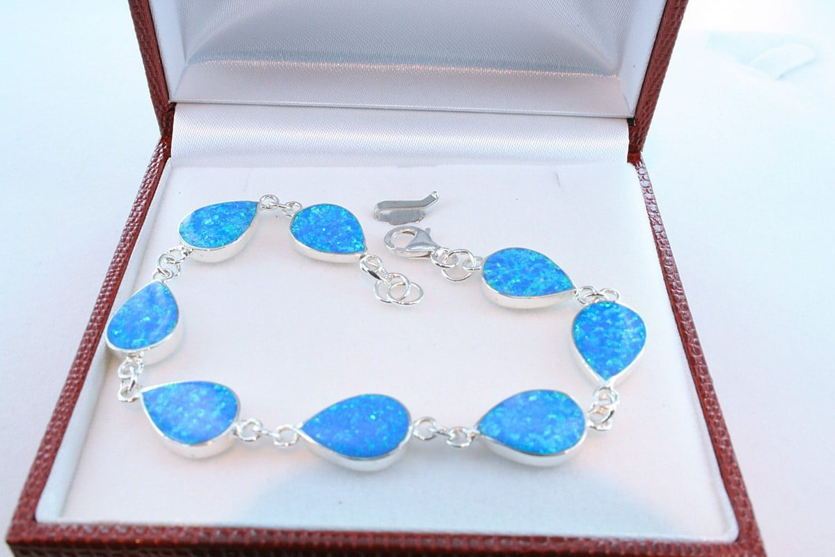 bracelet en opale et argent 925 par 1000 BR-OP-BL-005