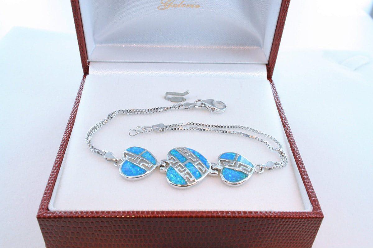 bracelet en opale et argent 925 par 1000 BR-OP-BL-014