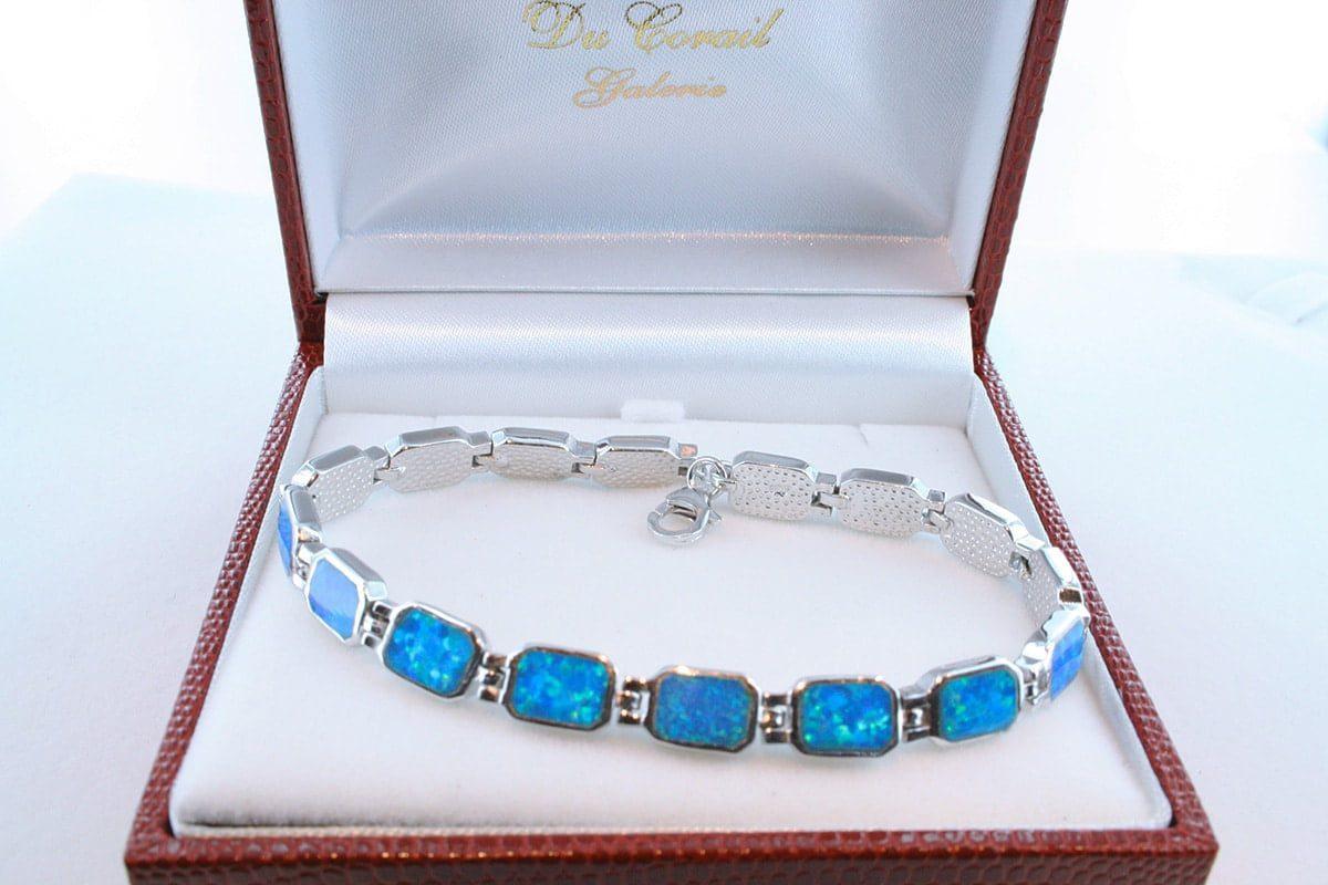 bracelet en opale et argent 925 par 1000 BR-OP-BL-016
