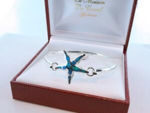 bracelet en opale et argent 925 par 1000 BR-OP-BL-017