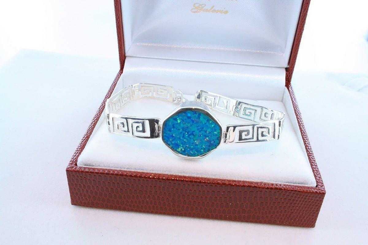 bracelet en opale et argent 925 par 1000 BR-OP-BL-019