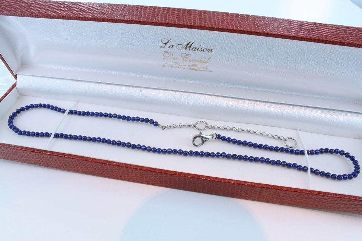 Collier en lapis lazuli et argent 925 par 1000 CO-LA-LA-AR-002
