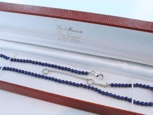 Collier en lapis lazuli et argent 925 par 1000 CO-LA-LA-AR-003
