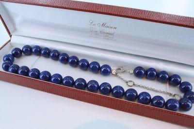 Collier en lapis lazuli et argent 925 par 1000 CO-LA-LA-AR-005