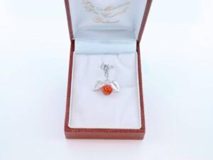 pendentif en corail rouge et argent 925 par 1000 PE-CO-AR-002