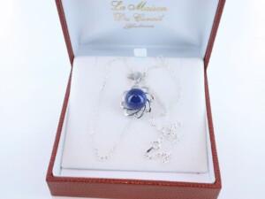 pendentif en lapis lazuli et argent 925 par 1000 PE-LA-LA-AR-001