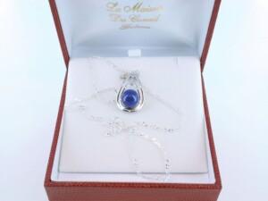 pendentif en lapis lazuli et argent 925 par 1000 PE-LA-LA-AR-003