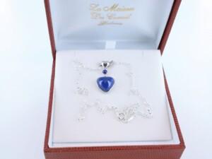 pendentif en lapis lazuli et argent 925 par 1000 PE-LA-LA-AR-005