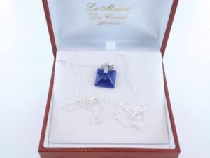 pendentif en lapis lazuli et argent 925 par 1000 PE-LA-LA-AR-007