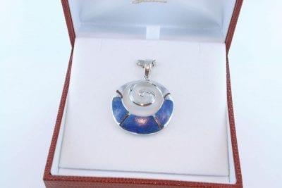pendentif en lapis lazuli et argent 925 par 1000 PE-LA-LA-AR-010