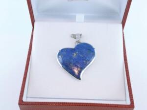 pendentif en lapis lazuli et argent 925 par 1000 PE-LA-LA-AR-011